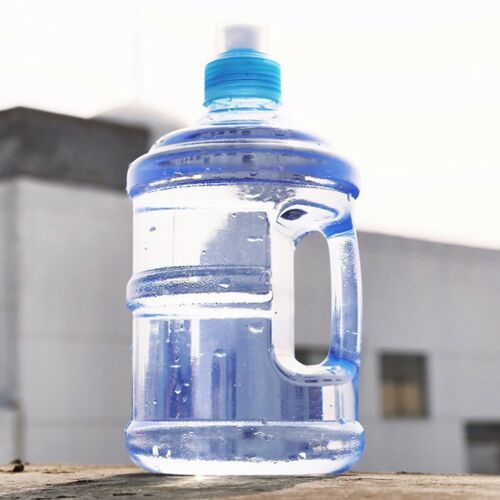 Workout Sport 1L Big Drink Large Water Bottle Cap Kettle BPA Free Gym Training