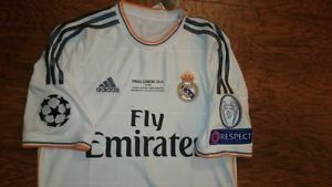 new style 4ae92 07b7e Details about ADIDAS REAL MADRID 13-14 CHAMPIONS FINAL S RONALDO ORIGINAL  SOCCER JERSEY SHIRT