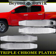 2014-2017 CHEVY COLORADO GMC CANYON Triple Chrome 4 Door Handle COVERS Overlay