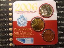 SAN MARINO MINIKIT 2006 DIVISIONALI FIOR DI CONIO 1 E 50 CENT 5 CENT COD. 3499
