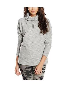 Drawcord Look Cowl Neck Jumper Greymid New Women's Sports GreySmall K1JlcTF
