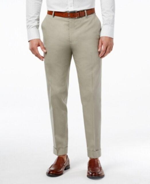 NWT INC International Concepts Men/'s Pants Easton Dress Milan Slim Fit Khaki