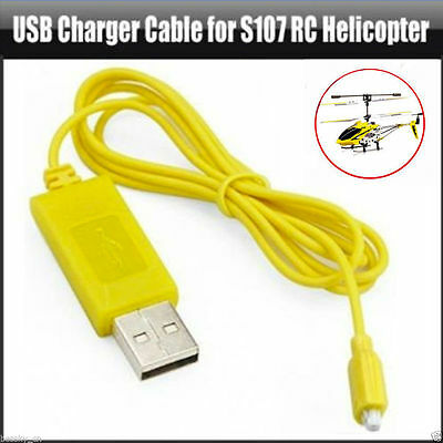 RC Helicopter Syma S107 USB Mini Charging Connector Cable Parts ATF