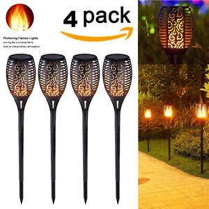 1-4-Pack-51-DEL-Etanche-Solaire-Torche-Tiki-Light-Dancing-clignotante-flamme-lampe
