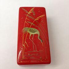 Russian Painted Lacquer Papier-mâché Box Crane Or Stalk.