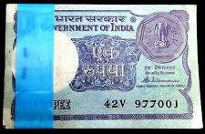 1-ONE RS. 100 SERIAL NOTES BUNDAL RARE SIGNED BY S. VENKANTRAMAN- 1985 -INDIA