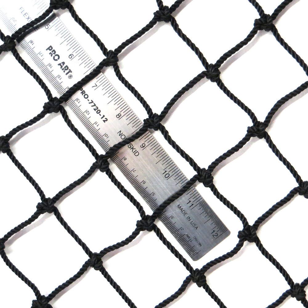 72 Nylon Impact Panel Net, 10' X 10', Rope Border+Leadline Bottom, 1-3/4