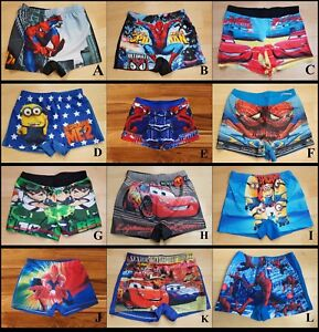 ca324ad55e Image is loading BOYS-KIDS-CARTOON-CHARACTER-SPIDER-MINION-SWIMMING-TRUNKS-