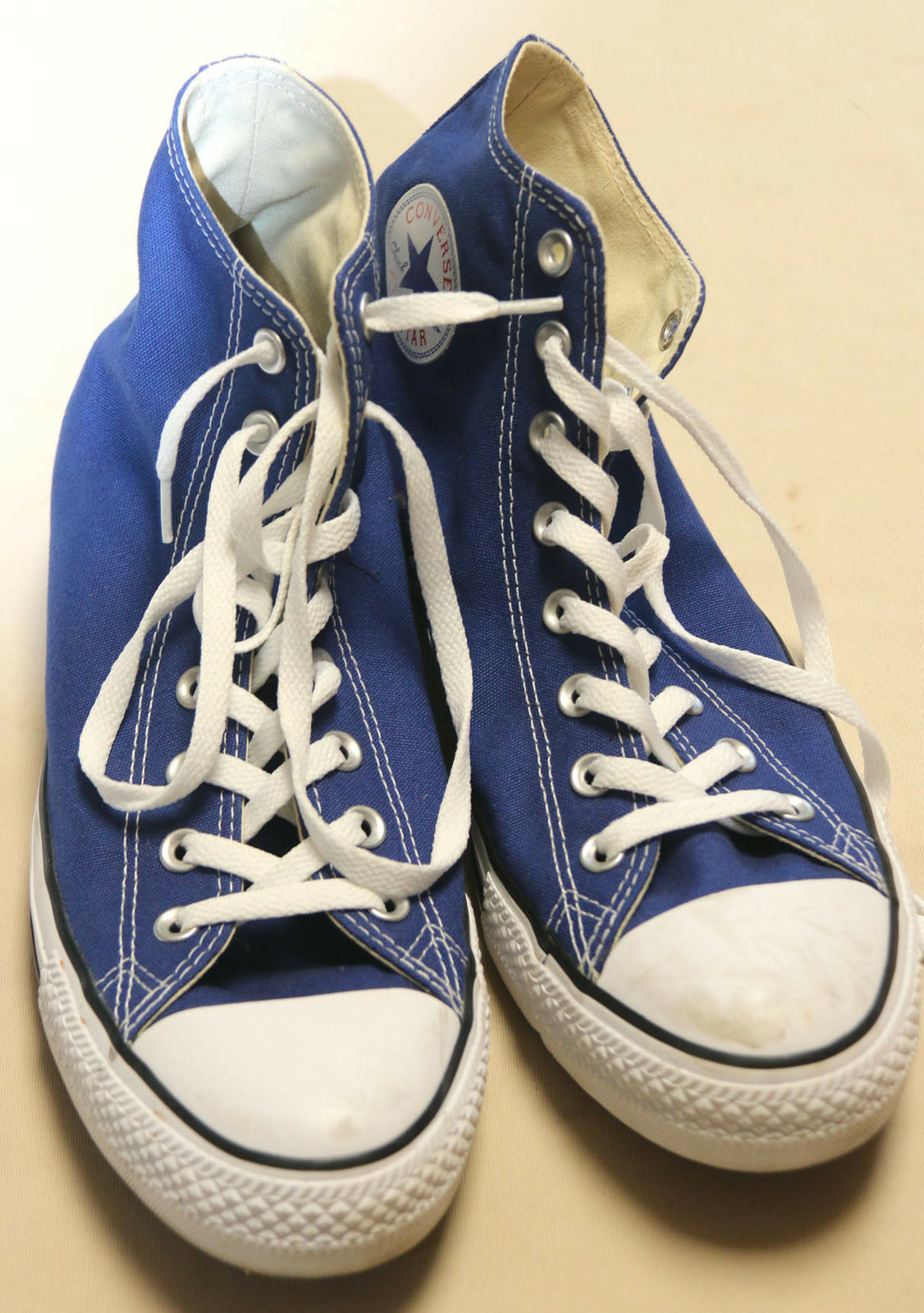 Converse Chuck Taylor Blue & White Shoes Sneakers Unisex Men's Sz. 10 Womens12