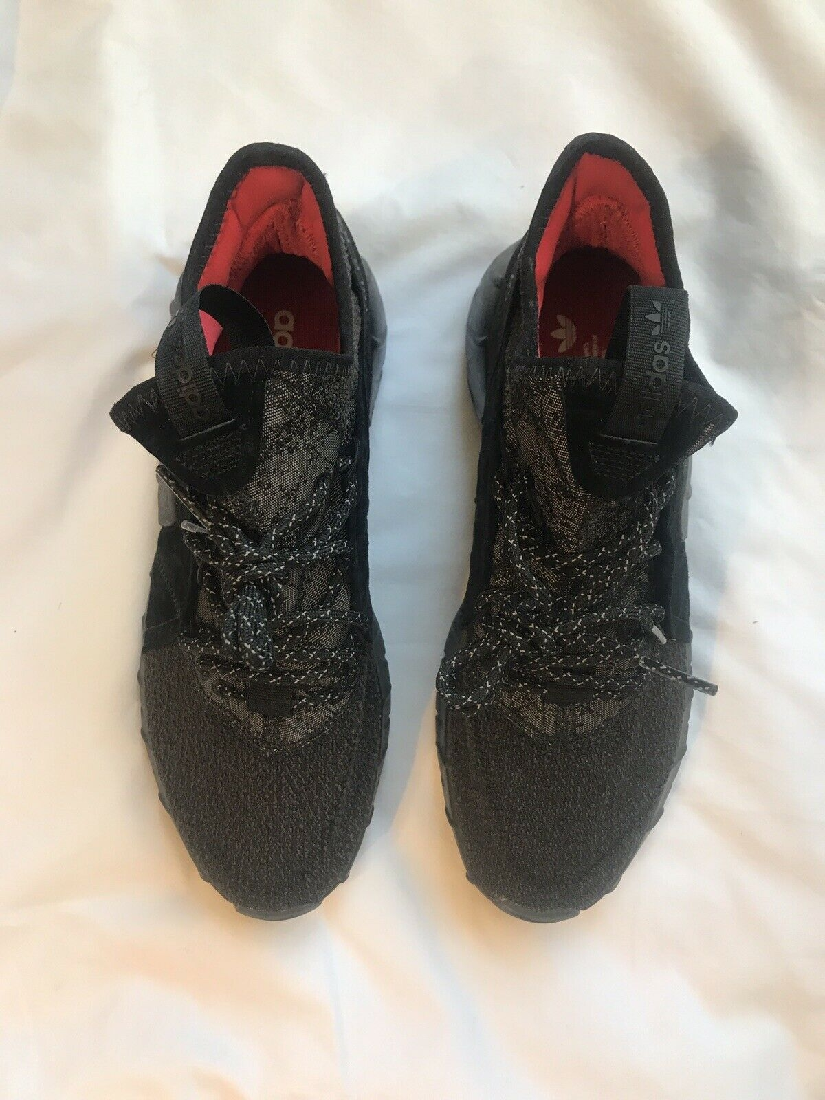 TBLR.RS Adidas Tubular Rise black, grey   core red Mens Sneakers Size 7.5