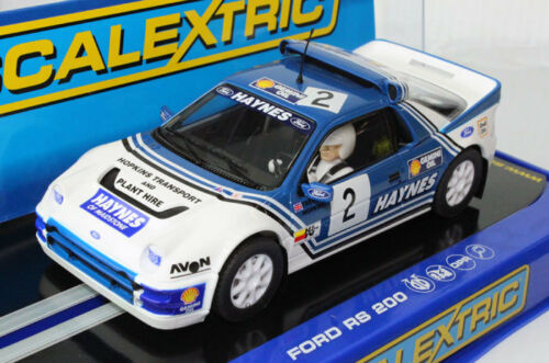 Scalextric C3407 Ford RS 200 Rally Slot Car 1//32