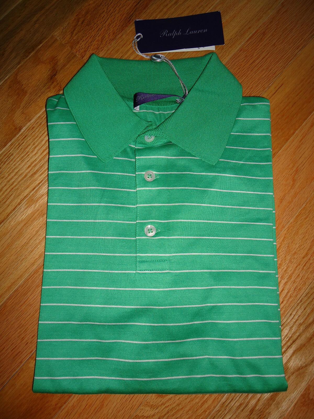 NWT  Ralph Lauren Purple Label Made In  Short Sleeve Polo Shirt sz M