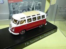 VW COMBI T1C Rouge et blanc SCHUCO 1:43