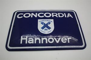Concordia Versicherung Hannover Emailschild Emailleschild 14 X 20 Cm