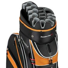 Founders Club Premium Cart Bag with 14 Way Organizer Top - Orange