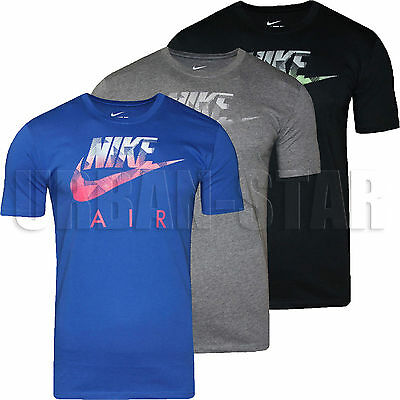 Homme neuf nike hybride futura t shirt rétro swoosh top à encolure ras du cou t shirt s m l xl | eBay