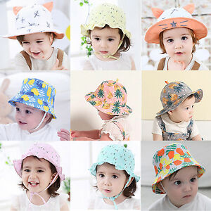 Summer Toddler Kids Newborn Baby Girls Cute Sun Hats Cotton Cap ... b315a20bba5
