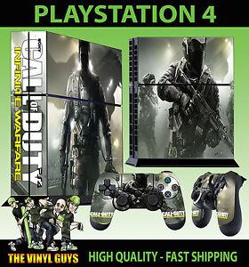 PS4-Piel-Call-of-Duty-Infinite-Warfare-Bacalao-Pegatina-NUEVO-2-Pad-vinilo