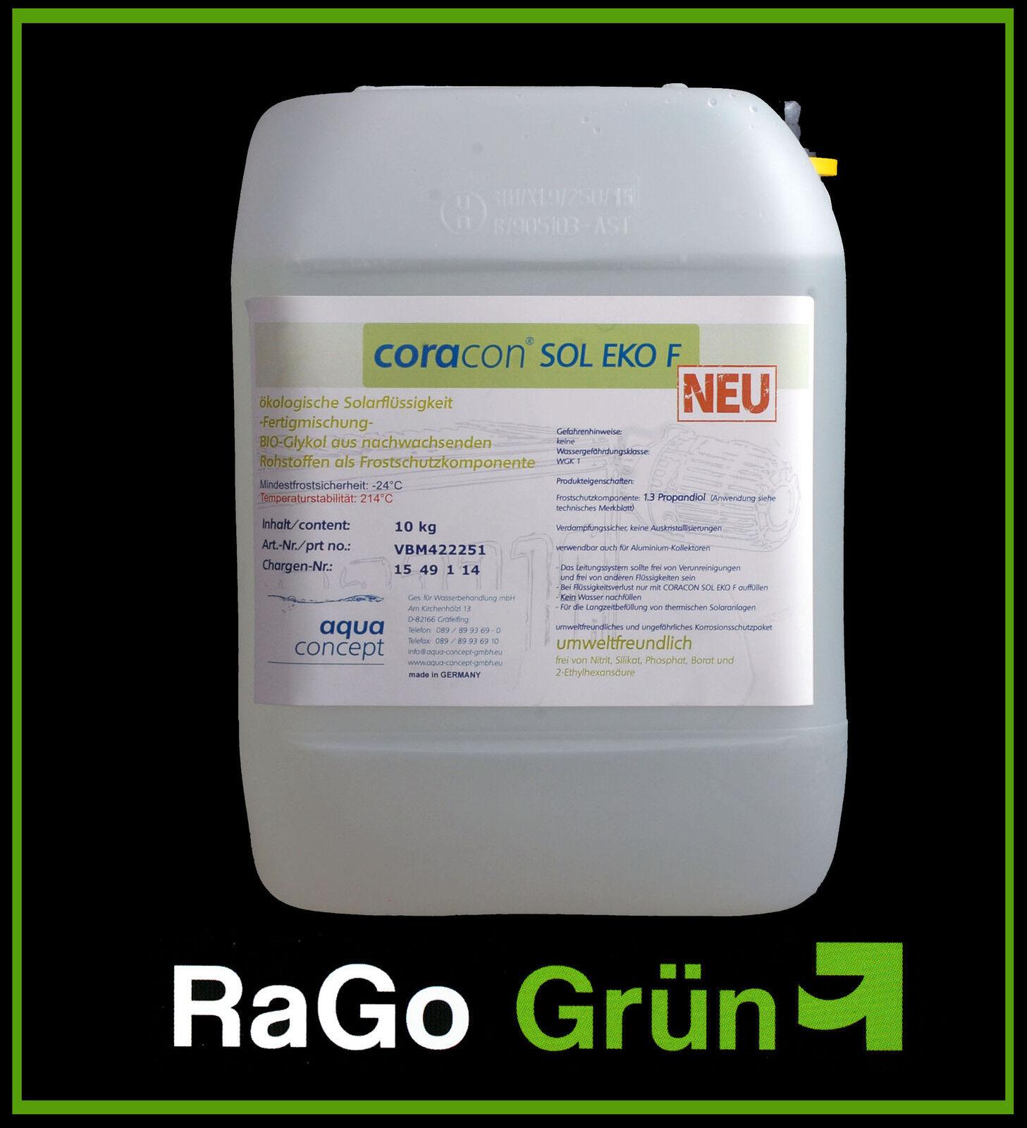 RaGo Bio-CORACON Sol EKO F: Ökologische Solarflüssigkeit 10 L - Neuheit