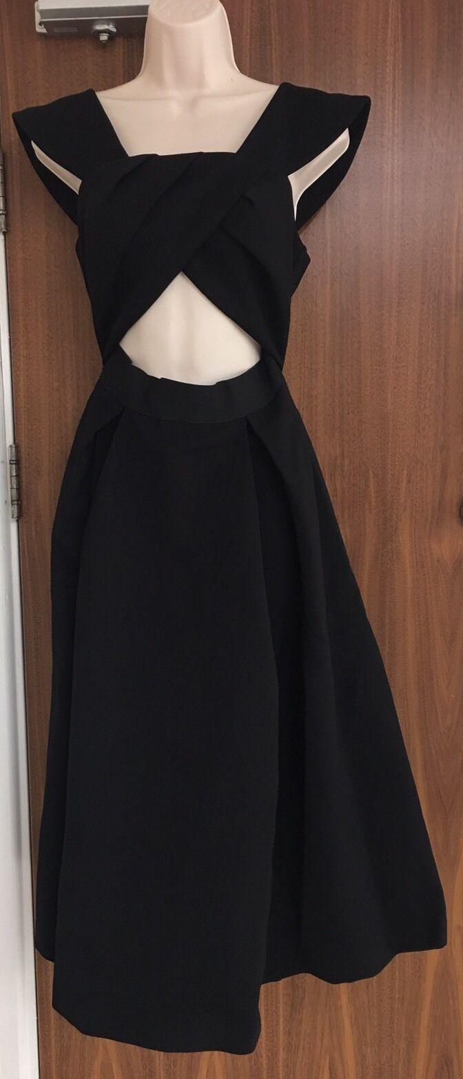 Self-Portrait Ayelette Off-The-Shoulder Crepe Dress Size