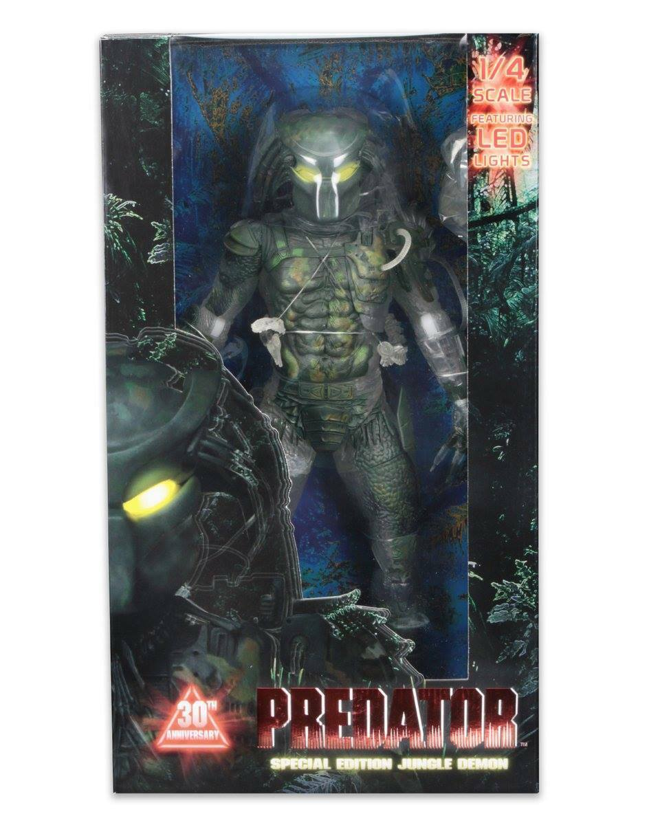 Predator 30th Anniversary JUNGLE DEMON Action Figure LED Lights 1 4 Scale NECA