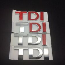 3D TDI Rear Boot Badge Car Emblem Logo Fits VW Volkswagen Sticker Decal Emblem