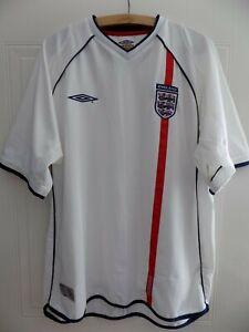 2001-RARE-SPECIAL-Original-Umbro-Angleterre-Retro-Football-Soccer-jersey-shirt-HOME