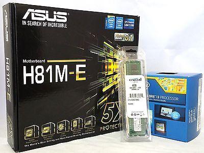 Asus H81M-E microATX Socket 1150, i5-4460 CPU, 4G DDR3 Combo Kit (Pre-Assembled)