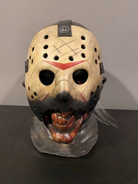 Horror halloween  Friday The 13th Jason latex full overhead mask Costume Prop