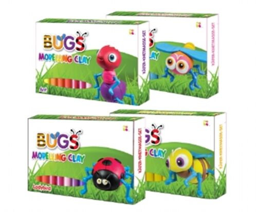 Clay modeling BUG choose from Bee Ant Ladybird or Dragonfly For little Crafters