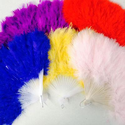 DAINTY FEATHER FANS-Burlesque Flapper Dance Wedding Costume Fancy Dress Showgirl