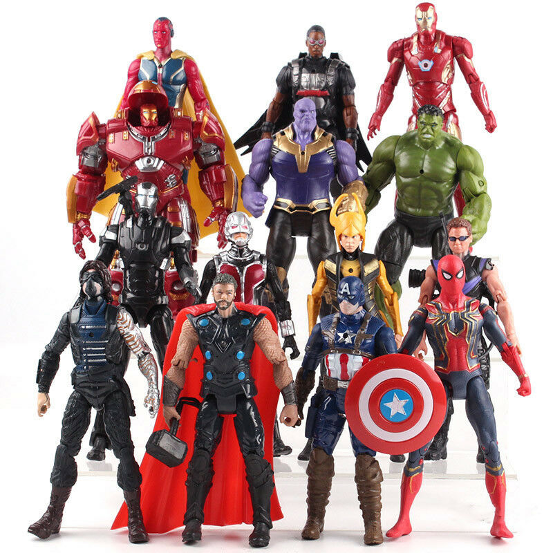 Avengers Infinity War Thor Captain America Spiderman Thanos Iron Man Model Toy
