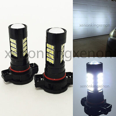 H16 12086 9009 PS24W 2504 Samsung LED 42 Smd White Bulb #x1 DRL FOG Driving Lamp