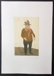 Kurt-Muehlenhaupt-Mann-mit-zwei-Beinen-Farbradierung-1996-handsigniert-datiert