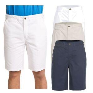 Trespass-Firewall-Mens-Lightweight-Cotton-Shorts-Longer-Length-in-White-amp-Blue