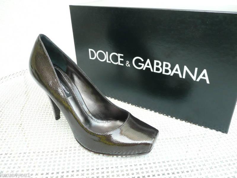 Orig Dolce & Gabbana D&G Heels Gr 36,5 Pumps High Heels D&G Schuhe grau  NEU 700025