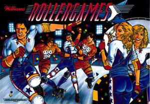 AgréAble Williams Rollergames Bille Jeux Flipper Machine Translite Remplacement