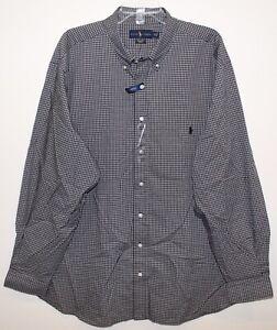 Polo-Ralph-Lauren-Big-amp-Tall-Mens-Black-White-Check-Button-Front-Shirt-NWT-4XLT