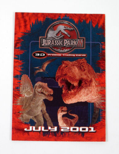 JP3D-1 Lot of Nm//Mt 50 2001 Inkworks Jurassic Park 3 3D Promo Card
