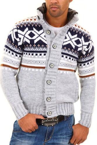 norvegese Wow nero bianco Carisma New Maglione maglia cardigan in grigio qzUASIwPH