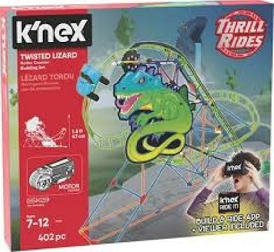 K'NEX Twisted Lizard Roller Coaster Building Pieces To Build An Amazing Set NEW