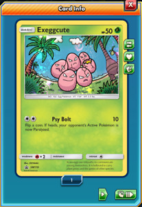 Pokemon TCG ONLINE Exeggcute SM119 (DIGITAL CARD) Forbidden Light Holo