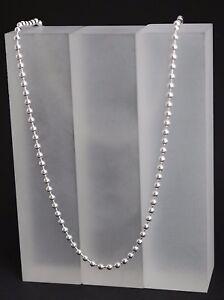 Kugelkette-Perlenkette-Collier-925-Sterling-Silber-Halskette-massiv-3-mm-45cm