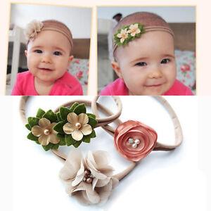Headband-Baby-Girl-Toddler-Newborn-Small-Flower-Bow-Nylon-Hair-Band-Accessory-3x