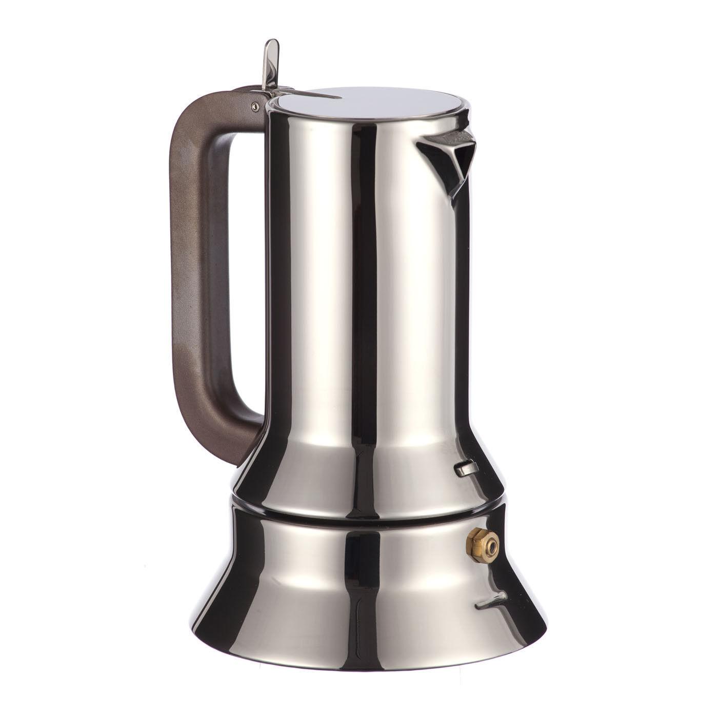 NUOVO Caffettiera Espresso 9090 Alessi Originale Moka Pot Regalo Natale Nozze