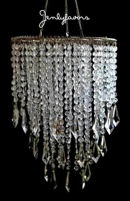 Acrylic Plastic Chandelier Clear For Party Decoration(12 Pieces)
