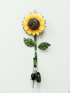 Metal-Sunflower-Hook-Wall-Home-Iron-Kitchen-Keys-Coats-Utilities-Decor-Hanger