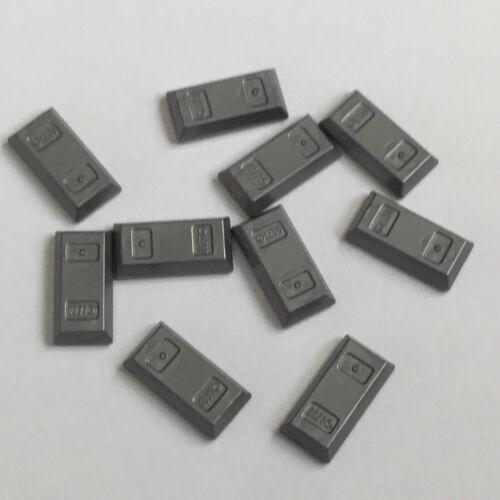 10 Lego Barren flat silber NEU 99563 Figur Zubehör