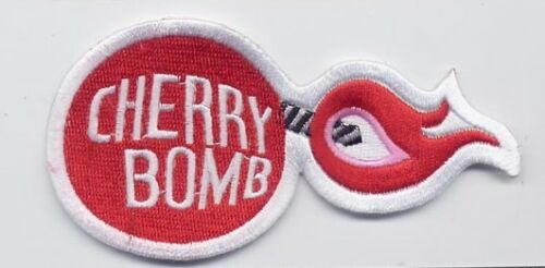 74 Vintage Style Red Cherry Bomb Punk Broder Iron On Patch GIRL ROCKABILLY