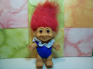 """5/"""" Russ Troll Doll Pink Hair RED SWIM // BATHING SUIT NEW"""